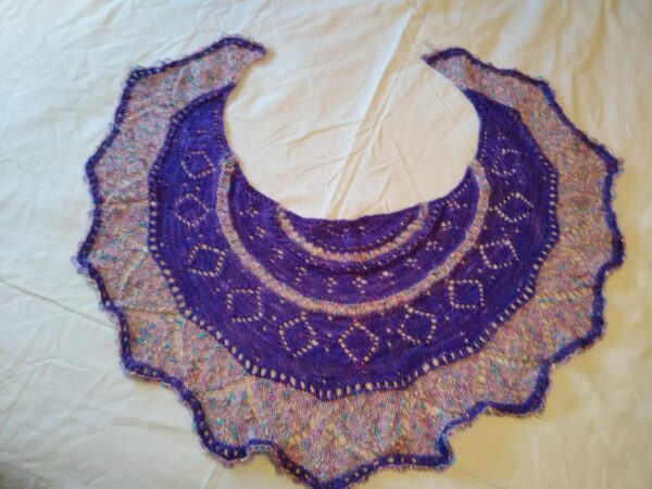Purple Crescent Shawl